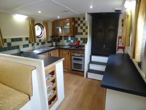 Interior of 'The Sub' , the new barge in the hire fleet